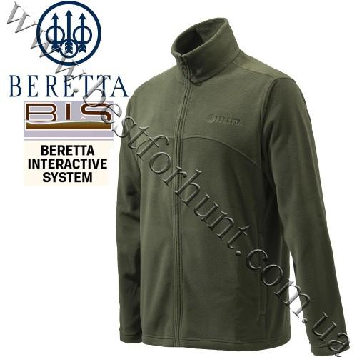 Beretta® Full Zip Fleece Jacket P3421 Green