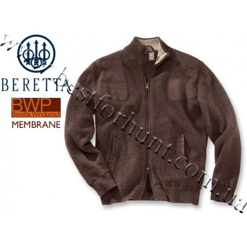 Beretta® Techno Wind Shield Long Zip Sweater PUB5 Brown Arabico