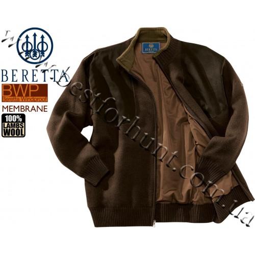 Beretta® Wind Barrier Long Zip Sweater PU33 Brown