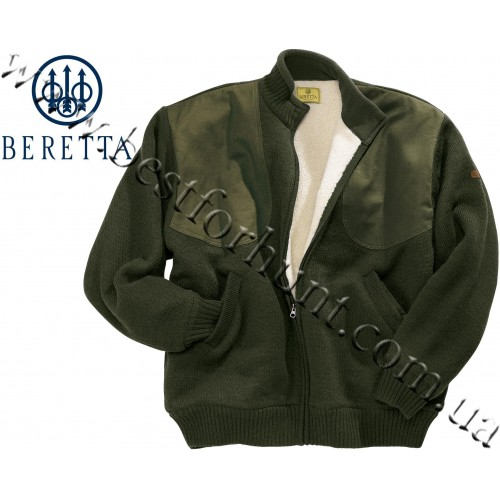 Beretta® Wind Barrier Sweater with Bear Fleece Lining PU59 Green