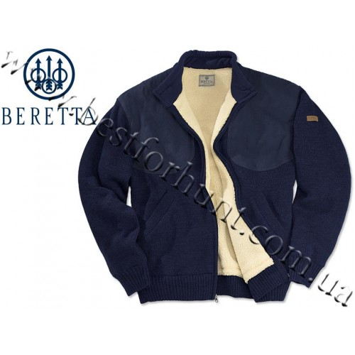 Beretta® Wind Barrier Sweater with Bear Fleece Lining PU59 Navy