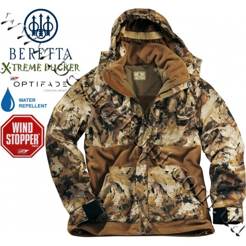 Beretta® Xtreme Ducker™ Fleece Jacket P333 GORE™ OPTIFADE™ Concealment Waterfowl Marsh