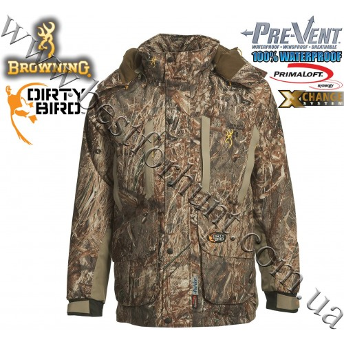 Browning® Dirty Bird™ Pre-Vent® Waterproof Insulated 4-in-1 Parka Mossy Oak® Duck Blind®