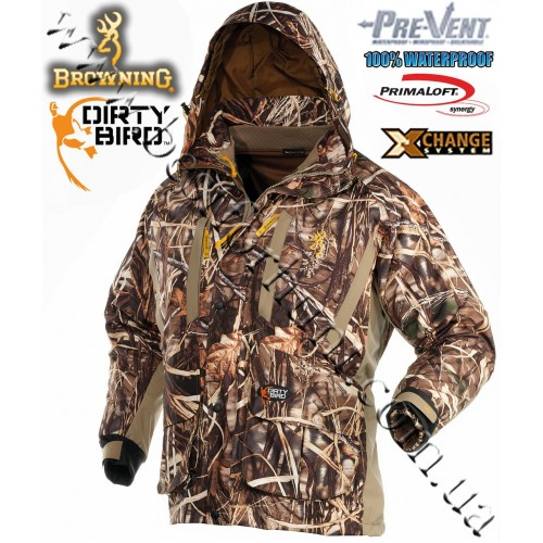 Browning® Dirty Bird™ Pre-Vent® Waterproof Insulated 4-in-1 Parka Realtree MAX-4®