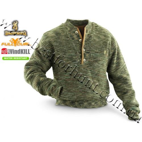 Browning® Full Curl™ Wool WindKill™ Sweater All Terrain Camo