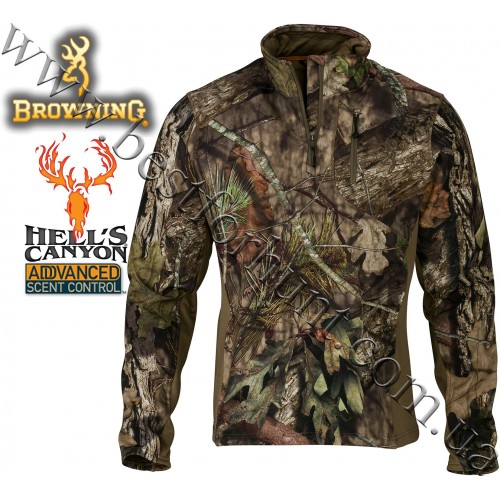 Browning® Hell's Canyon™ Ajax 1/4 Zip Pullover Mossy Oak® Break-Up® COUNTRY™