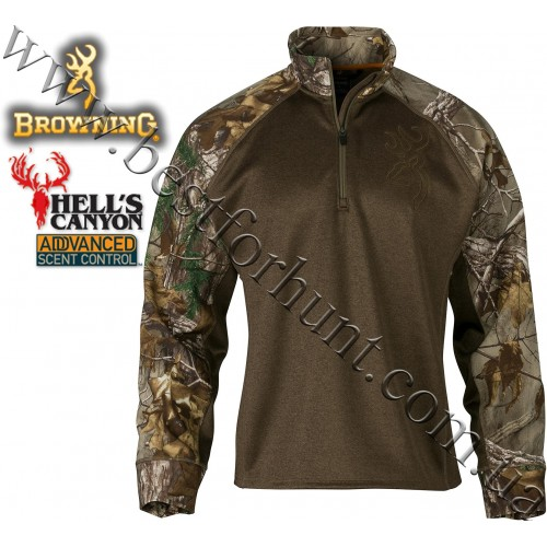 Browning® Hell's Canyon™ Bellum™ 1/4 Zip Neck Pullover Realtree Xtra®