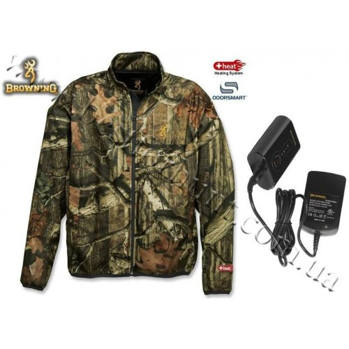 Browning® Soft Shell AddHeat™ Jacket with AddHeat™ Power Pack and Control Module Mossy Oak® Break-Up® Infinity™