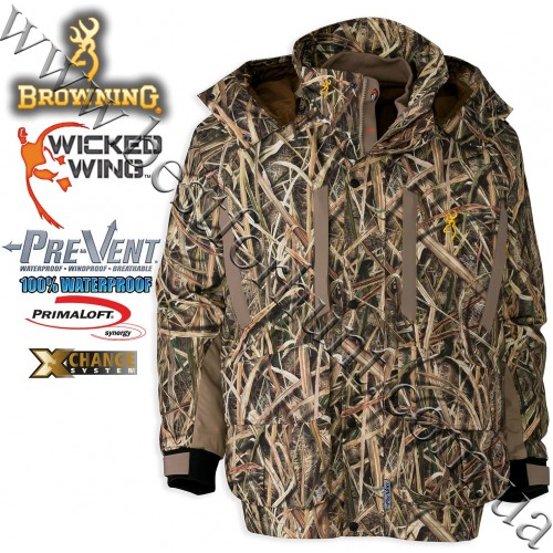Browning® Wicked Wing™ Pre-Vent® Waterproof Insulated 4-in-1 Parka Mossy Oak® Shadow Grass® Blades™