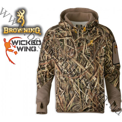 Browning® Wicked Wing™ Smoothbore Fleece Hoodie Mossy Oak® Shadow Grass® Blades™