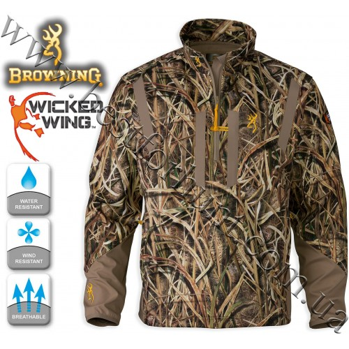 Browning® Wicked Wing™ Soft Shell Pullover Mossy Oak® Shadow Grass® Blades™