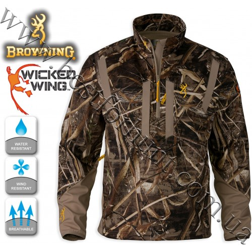 Browning® Wicked Wing™ Soft Shell Pullover Realtree MAX-5®