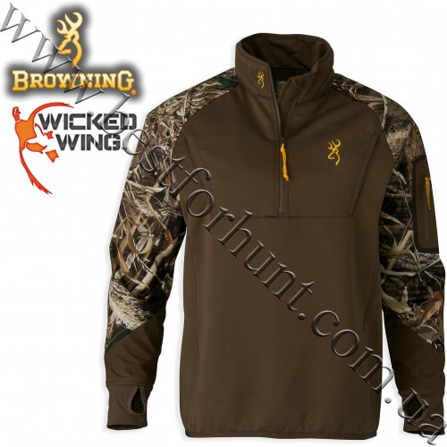 Browning® Wicked Wing™ Timber Fleece 1/4 Zip Top Realtree MAX-5®