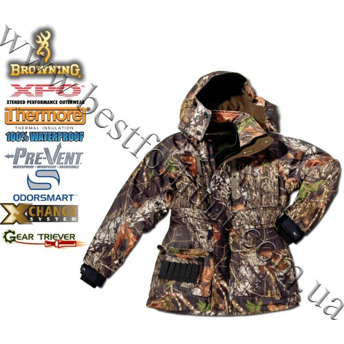 Browning® XPO™ Big Game Pre-Vent® 4-in-1 Parka Mossy Oak® Break-Up®
