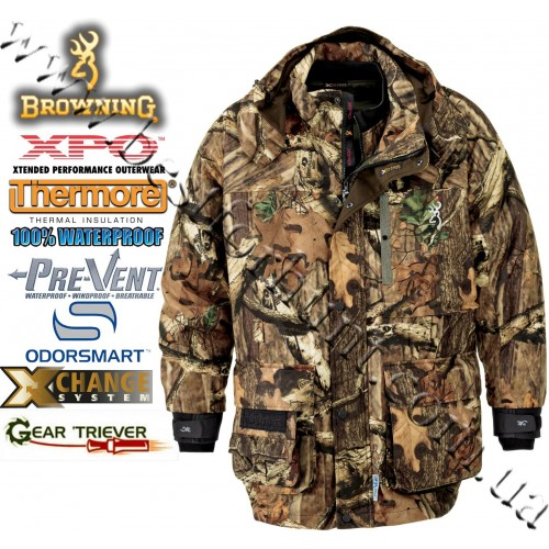 Browning® XPO™ Big Game Pre-Vent® 4-in-1 Parka Mossy Oak® Break-Up® Infinity™