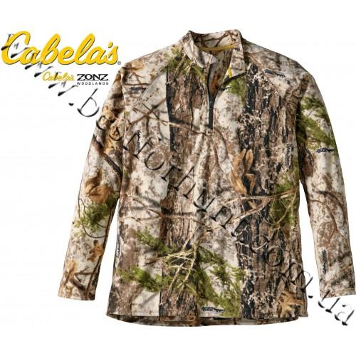 Cabela's Microfleece 1/4-Zip Jacket Zonz™ Woodlands