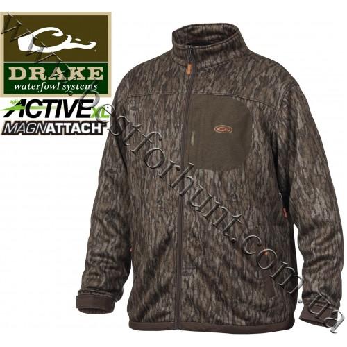 Drake Waterfowl® Endurance Full Zip Jacket with Agion Active XL™ Mossy Oak® Bottomland®