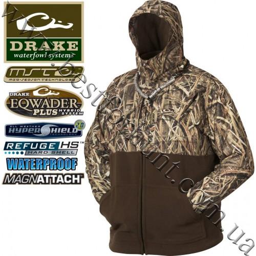 Drake Waterfowl® MST Eqwader™ Deluxe Full Zip Jacket DW2090 Mossy Oak® Shadow Grass® Blades™