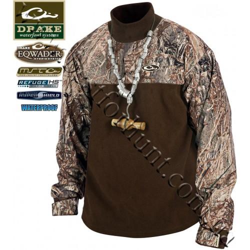 Drake Waterfowl MST Eqwader™ Mock Turtleneck Mossy Oak® Duck Blind®