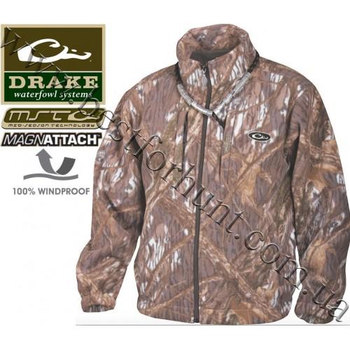 Drake Waterfowl MST Windproof Fleece Layering Coat Mossy Oak® Shadow Branch®