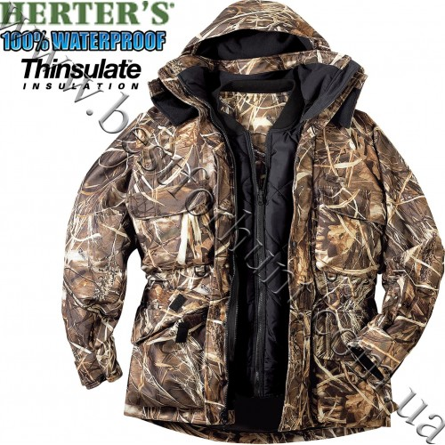Herter's® FowlTech™ 4in1 Insulated Wading Jacket Realtree MAX-4®