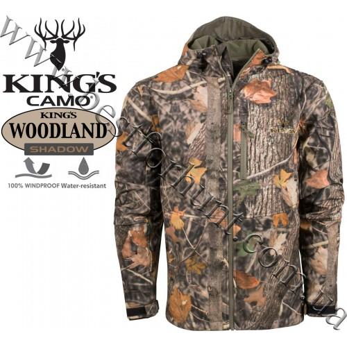 King's Camo® KC1 Soft Shell Hooded Hunting Jacket King's Camo® Woodland Shadow®
