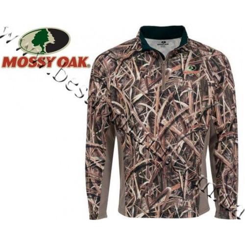 Mossy Oak® Performance Long-Sleeve Quarter-Zip Microfleece Pullover Mossy Oak® Shadow Grass® Blades™