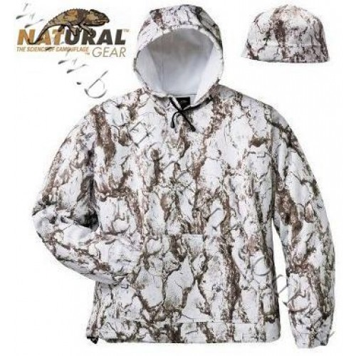 Natural Gear™ Fleece Hoodie and Beanie Combo Natural Gear™ Snow Camo