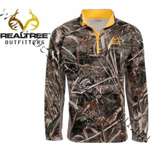 Realtree Outfitters® Performance Long-Sleeve Quarter-Zip Microfleece Pullover Realtree MAX-5®
