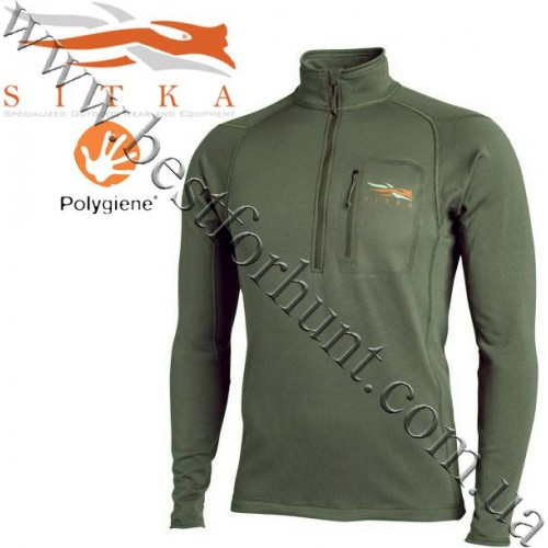 Sitka™ Core Midweight Zip Top Forest