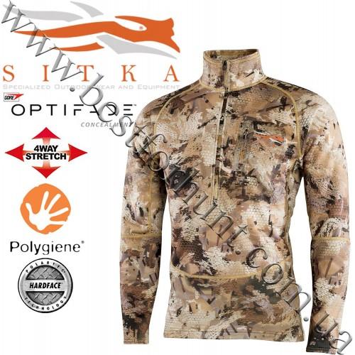 Sitka® Gear Grinder Half-Zip GORE™ OPTIFADE™ Concealment Waterfowl Marsh