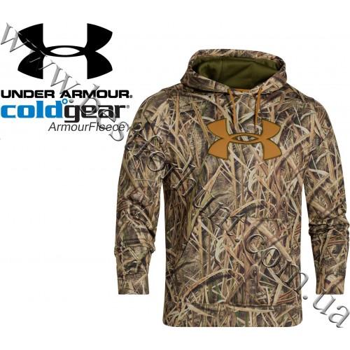 Under Armour® Armour Fleece® Big Logo Camo Hoodie Mossy Oak® Shadow Grass® Blades™