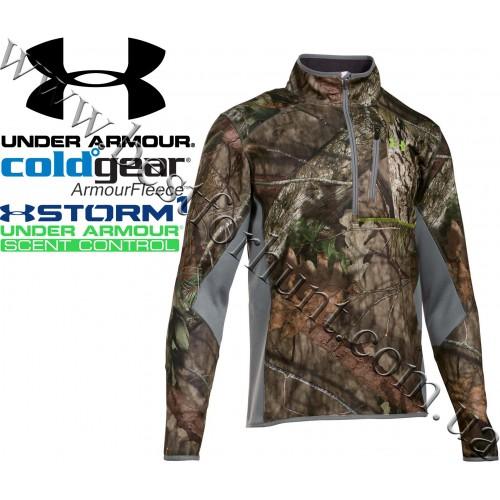 Under Armour® ColdGear® Scent Control Zip Neck Fleece Jacket Mossy Oak® Break-Up® COUNTRY™