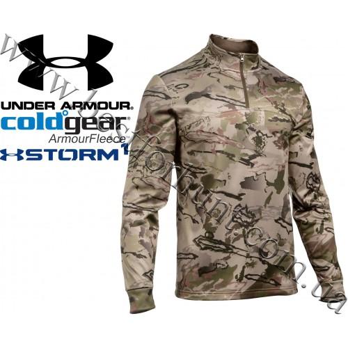 Under Armour® ColdGear® Storm Zip Neck Long Sleeve Hunting Shirt Ridge Reaper Barren® Camo