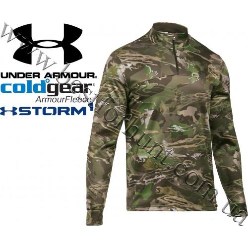 Under Armour® ColdGear® Storm Zip Neck Long Sleeve Hunting Shirt Ridge Reaper Forest®