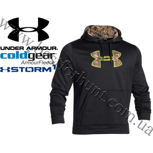 Under Armour® Storm Caliber Hoodie Black with Realtree Xtra®