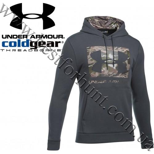 Under Armour® Threadborne™ Fill Logo Hoodie Nori Green with Ridge Reaper Forest® Camo