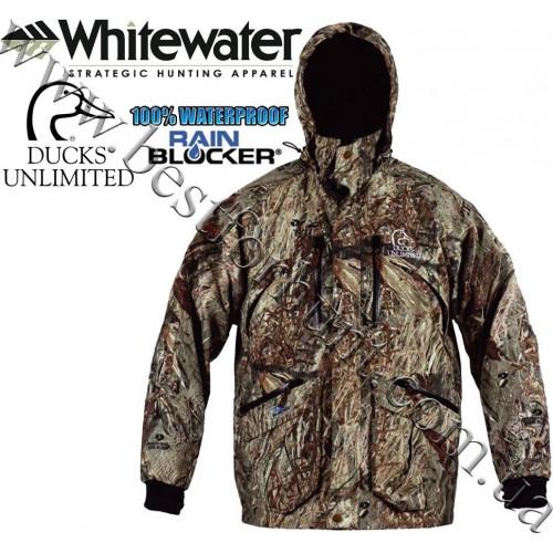 Whitewater® Ducks Unlimited® Duck Back 2-in-1 Waterproof Jacket with Liner Vest Mossy Oak® Duck Blind®