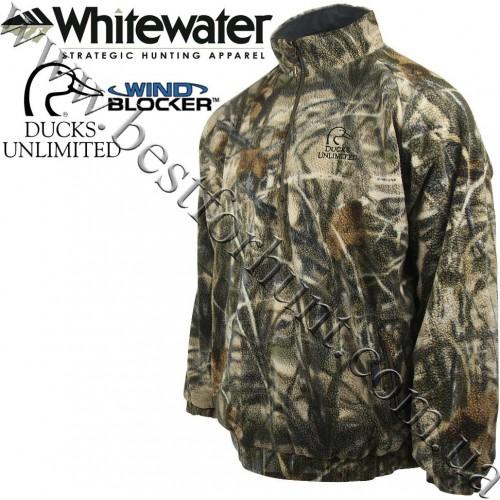 Whitewater® Ducks Unlimited® Sherpa Fleece Jacket Realtree MAX-4®