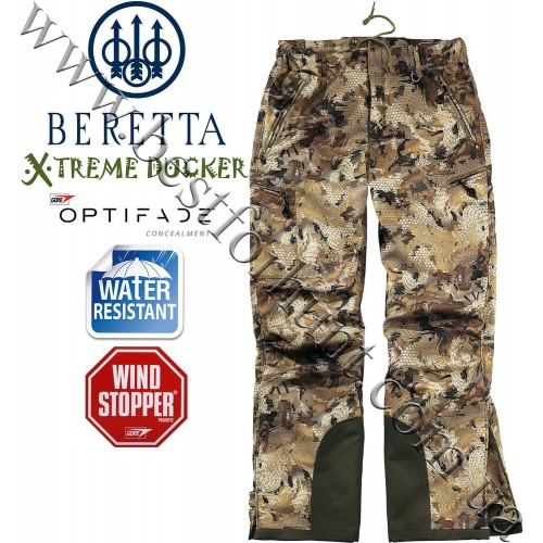 Beretta® Xtreme Ducker™ Soft Shell Pant CU35 GORE™ OPTIFADE™ Concealment Waterfowl Marsh