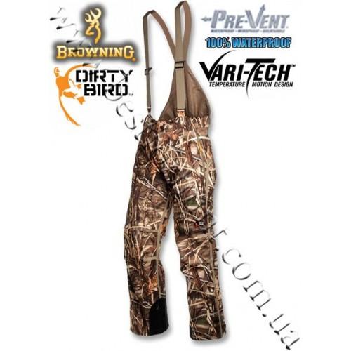 Browning® Dirty Bird™ Pre-Vent® Vari-Tech Waterproof Half Bib Realtree MAX-4®