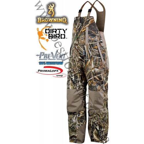 Browning® Wicked Wing™ Pre-Vent® Waterproof Insulated Bib Realtree MAX-5®