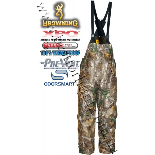Browning® XPO™ Big Game Pre-Vent® Waterproof Insulated Bib Realtree Xtra®