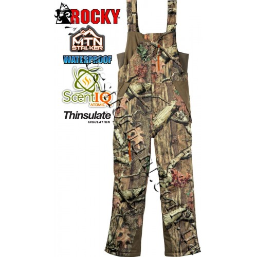 Rocky® MTN Stalcker™ Athletic Mobility Maxprotect Level 3 SIQ Insulated Hunting Bibs Mossy Oak® Break-Up® Infinity™