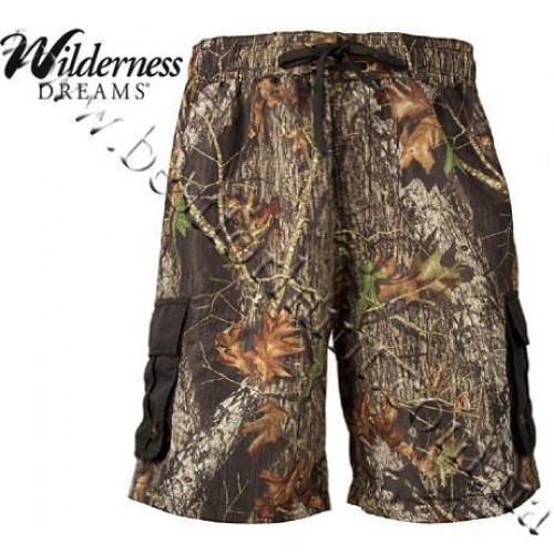 Wilderness Dreams® Cargo Board Shorts Mossy Oak® Break-Up®