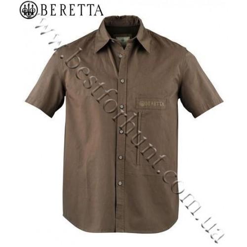 Beretta Ambi II Short Sleeve Shooting Shirt Green Cord