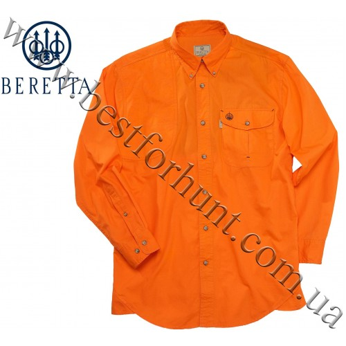 Beretta® Long Sleeve Shooting Shirt LU19 Orange