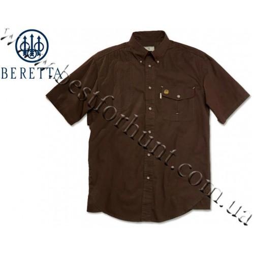 Beretta® Short Sleeve Shooting Shirt LU20 Brown