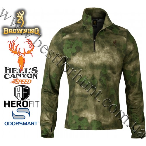 Browning® Hell's Canyon™ Speed Phase 1/4 Zip Top A-TACS FG Camo™