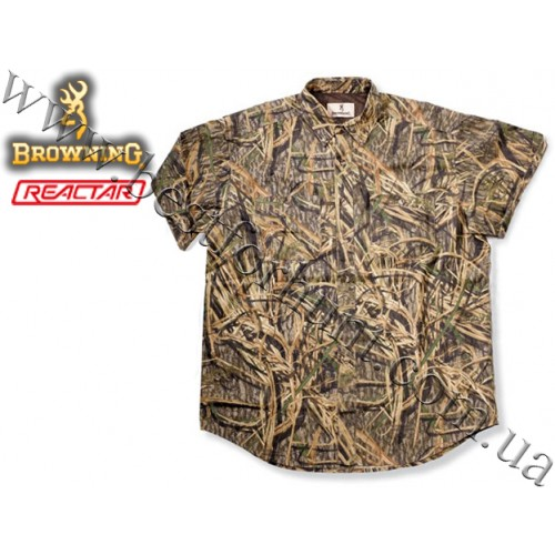 Browning® Short Sleeve Crossover Shirt with Pocket Mossy Oak® Shadow Grass®